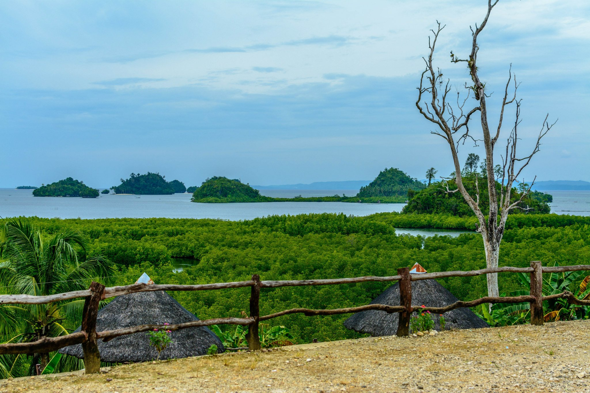 View of the islets taken from the Rest Area at Davisol.
